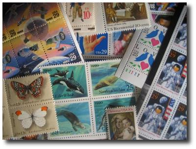 Collection of stamps.